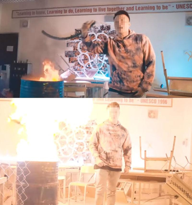 Vào trường Amsterdam quay MV mới, rapper 9X bị tố tự ý đốt sách của học sinh vì... thiếu đạo cụ-1
