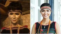 Dân mạng hết hồn với tượng sáp của H'Hen Niê vì gương mặt dữ dằn không giống phiên bản gốc
