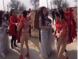 Cô dâu TQ choáng váng vì bị họ nhà trai tụt váy cưới ngay trong hôn lễ