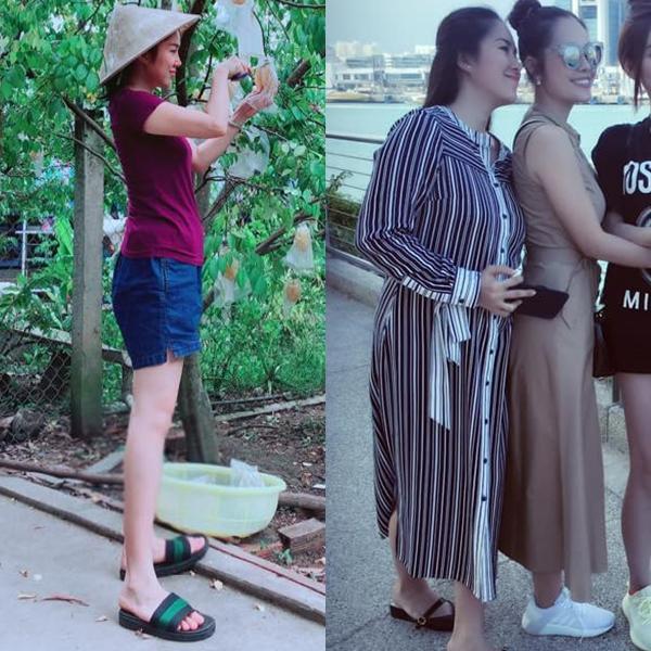 Hội chị em chia sẻ ảnh bà bầu Lê Phương thân hình phát tướng, khác biệt 180 độ-4