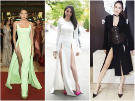 Váy xẻ cao vút - món đồ bị chê phản cảm nay đã 'ra ngõ là gặp' với sao Việt