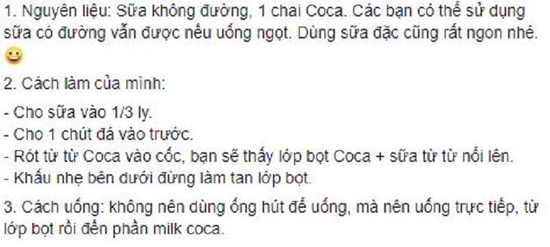 Bạn biết gì về cơn sốt milk coke - hỗn hợp coca cola và sữa không đường?-2