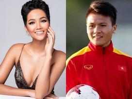 Vừa trở về từ Singapore, Quang Hải đã nhận tin vui cùng Hoa hậu H'Hen Niê