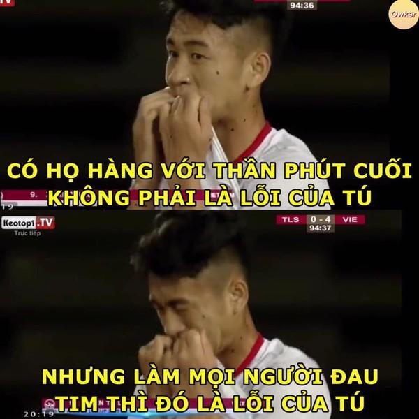 Ảnh chế cực 'lầy lội' của các chàng tuyển thủ Việt theo triết lý tình yêu của Miss Hương Giang khiến dân mạng cười nghiêng ngả-3