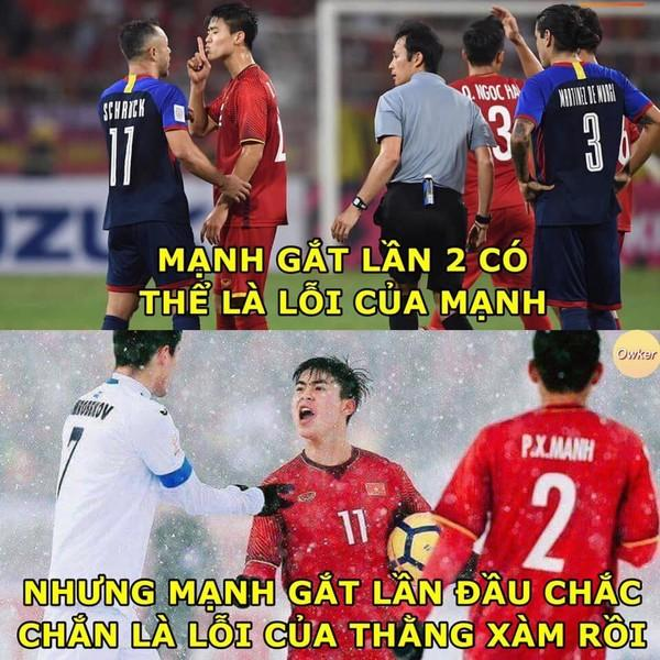 Ảnh chế cực 'lầy lội' của các chàng tuyển thủ Việt theo triết lý tình yêu của Miss Hương Giang khiến dân mạng cười nghiêng ngả-6