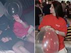 Sau nghi án bán dâm nghìn đô, Á hậu Thái Mỹ Linh công khai ảnh đi bar 'phê pha' hít bóng cười