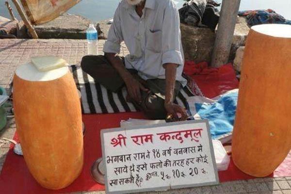Loại củ kỳ lạ to như khúc gỗ được bán ngập tràn và cực đắt hàng trên đường phố Ấn Độ-4