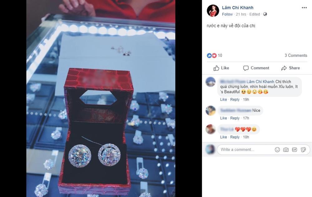 Mới kể khổ vay nặng lãi phải trả nợ nhưng Lâm Khánh Chi lại vừa khoe nhẫn kim cương 21 tỷ-1
