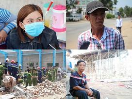 Vụ sập tường 6 người chết: Con gái hoảng loạn lao đi tìm cha