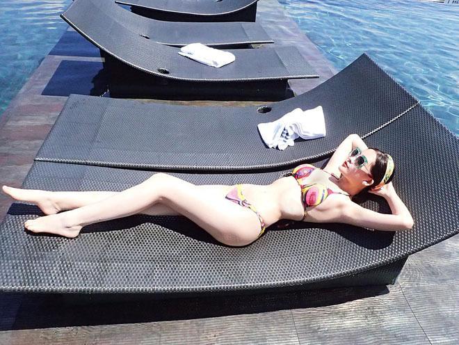 Lê Âu Ngân Anh: Tôi khó mặc bikini vì lưng gãy, vòng 3 nở nang-4