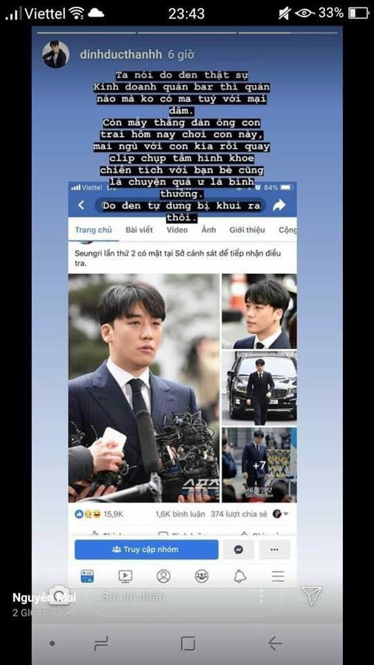 Nam phụ phim Trạng Quỳnh nói về scandal Seungri Big Bang: Đen thì bị khui thôi chứ quay clip sex là chuyện thường-2