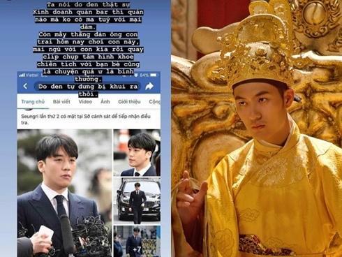 Diễn viên phim Trạng Quỳnh phát ngôn sốc về scandal Seungri