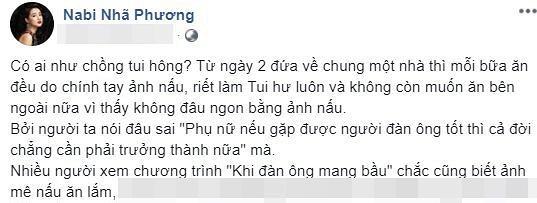 Hết gọi Trương Giang là anh yêu, Nhã Phương lại công khai bị chồng chiều hư sau khi làm đám cưới-1