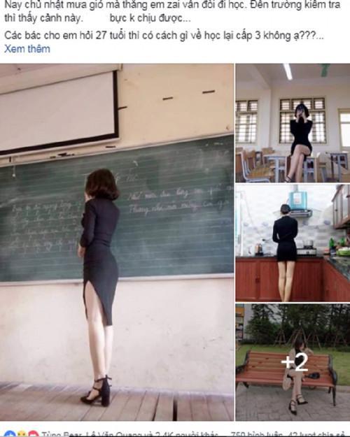 Dân mạng sôi sục trước loạt ảnh cô giáo trẻ ăn mặc táo bạo đứng trên lớp giảng bài-1