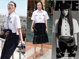 3 thế hệ mặc chung một mẫu áo: Phượng Chanel khác nào bà thím trong khi Lan Khuê - Jennie Black Pink thực sự đẹp