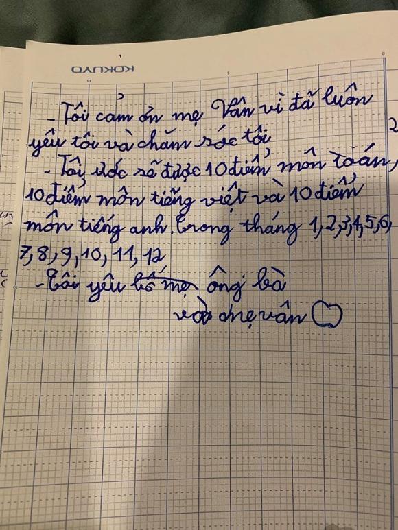 Những yêu thương nguệch ngoạc gửi mẹ đơn thân của nhóc tì nhà Vân Hugo - MC Thảo Vân khiến ai đọc xong cũng nghẹn đắng-2
