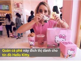 Quán cà phê Hello Kitty gợi nhớ về tuổi thơ dữ dội