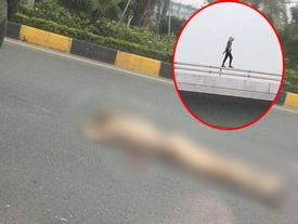 Cô gái nước ngoài rơi từ cầu vượt sân bay Nội Bài xuống đất trong tình trạng hoàn toàn khỏa thân
