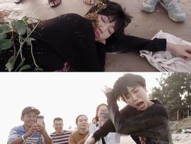 Diệu Nhi say xỉn đến mức ngủ quên ngoài bãi biển bị người dân chụp hình chế giễu