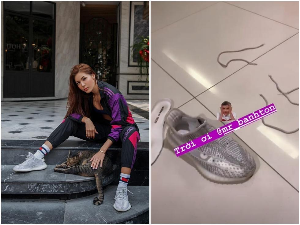 Minh Tú 'phát điên' với kẻ đã phá tan đôi sneaker tiền triệu mới đi được vài lần