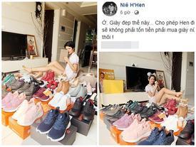 'Hoa hậu nghèo' H'Hen Niê khoe tủ giầy hoành tráng toàn hàng bình dân nhưng ai cũng xuýt xoa khen ngợi