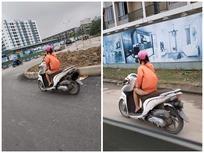 Sốc với hình ảnh cô gái 'mặc quần như không mặc' phi như bay trên đường