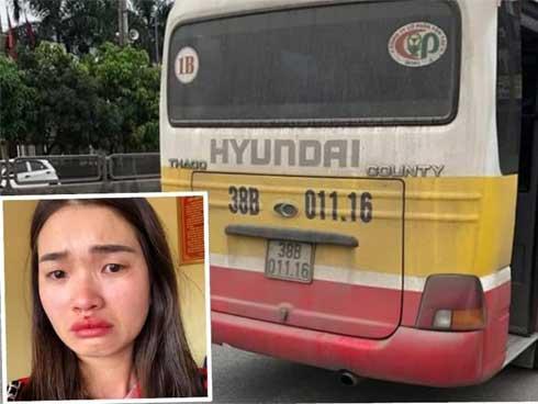 Bắt tài xế đánh nữ hành khách dập mũi ở Hà Tĩnh-2