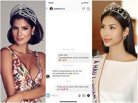 Nhắn tin làm quen đối thủ Brazil tại Miss Universe 2019, Hoàng Thùy nhận cái kết bất ngờ từ cực phẩm mỹ nhân