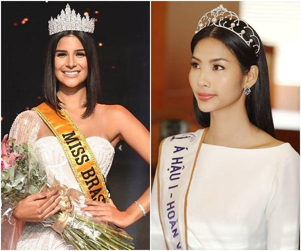 Nhắn tin làm quen đối thủ Brazil tại Miss Universe 2019, Hoàng Thùy nhận cái kết bất ngờ từ cực phẩm mỹ nhân-1
