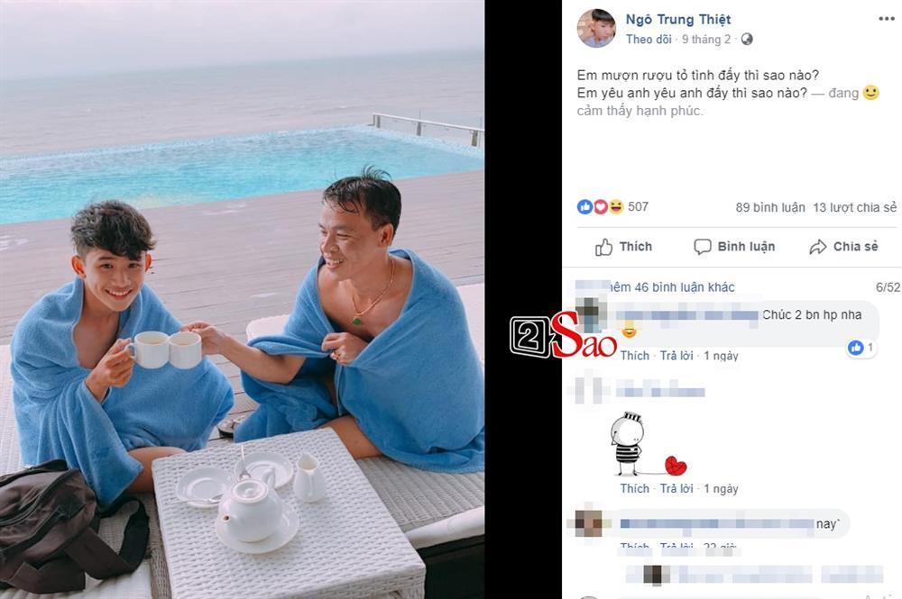 Công khai yêu đương đã là gì, cặp đồng tính chú - cháu khiến nhiều đôi trẻ cũng gato với những status cực tình-9