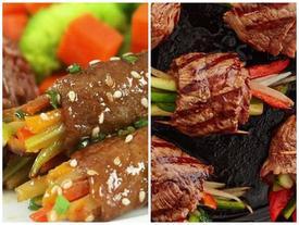 Clip: Cách làm thịt bò cuộn rau củ nướng thơm lừng