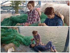Lan Ngọc dùng vợt cá cứu Bình An suýt chết đuối trong tập 35 'Mối Tình Đầu Của Tôi'