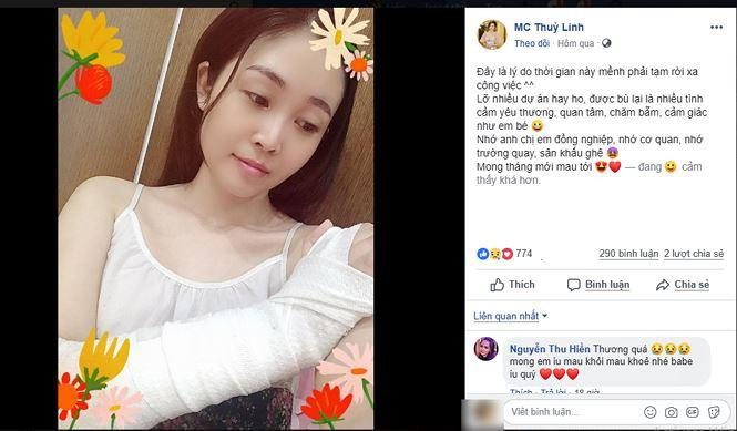 2 MC đình đám của VTV bất ngờ tuyên bố tạm thời nghỉ việc để nhập viện điều trị chấn thương tai nạn-1