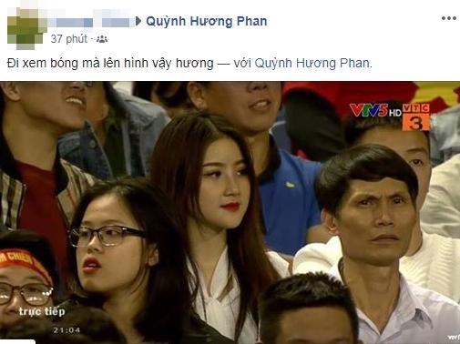 Đã tìm ra info gái xinh gây náo loạn mạng xã hội khi đi cổ vũ U23 Việt Nam tại Mỹ Đình-2