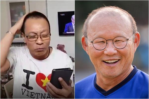 MC Lại Văn Sâm hát chế Tóc em đuôi gà cực hài cực máu lửa tặng HLV Park Hang-seo sau chiến thắng lịch sử-2