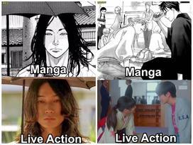 Loạt ảnh cho thấy từ manga lên phim live-action không có sự khác biệt nhiều