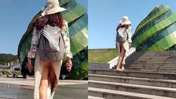 Giữa thành phố Đà Lạt, ai cũng sốc tận óc vì phải chứng kiến cô gái trẻ không mặc quần mà cứ hồn nhiên dạo khắp thắng cảnh