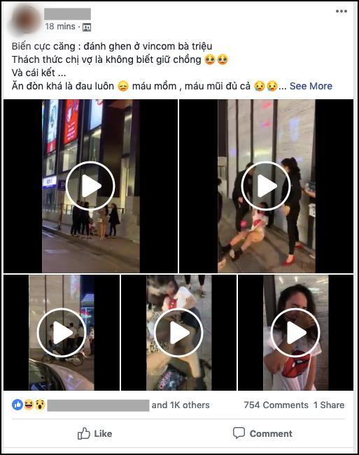 Đánh ghen kinh hoàng tại Hà Nội: Cô gái trẻ bị đám đông lột váy, vừa tát vừa chửi mày dám bảo chị tao không biết giữ chồng à?-1
