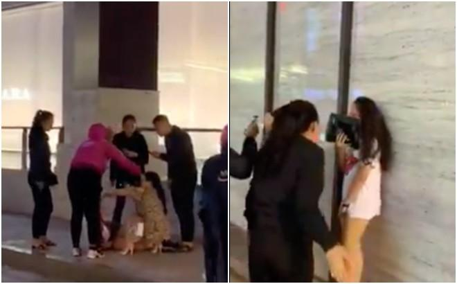 Đánh ghen kinh hoàng tại Hà Nội: Cô gái trẻ bị đám đông lột váy, vừa tát vừa chửi mày dám bảo chị tao không biết giữ chồng à?-3
