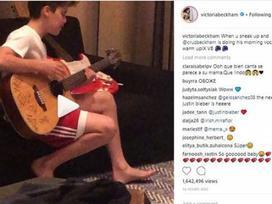 Cậu ấm Beckham hát hit Justin Bieber năm 13 tuổi làm dân mạng dậy sóng
