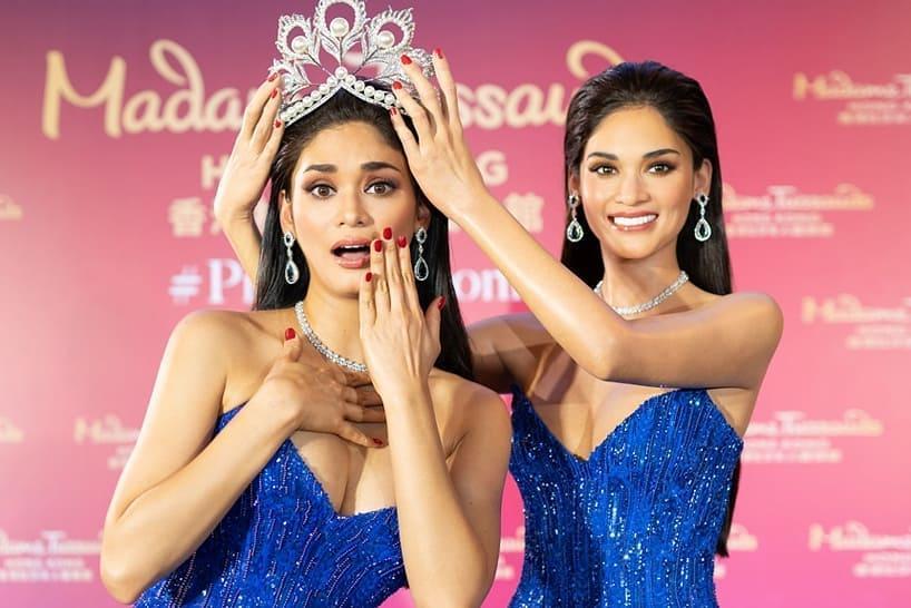 Người thật và tượng sáp giống đến kinh ngạc, đố bạn chỉ chính xác ai là Hoa hậu Hoàn vũ Pia-6