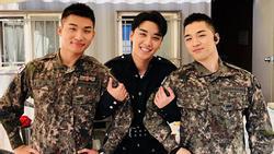 Ngoài kia Seungri 'bao la sóng gió', còn trong quân ngũ, Taeyang và Daesung lại bận rộn với lịch trình hát ca