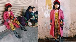 Cô bé vô gia cư xinh xắn tự phối đồ từ quần áo cũ vứt đi, nuôi ước mơ trở thành người mẫu
