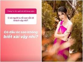 Á hậu Thùy Dung đáp trả cực gắt khi bị hỏi bất ngờ 'có người yêu rồi sao vẫn đi khách?'
