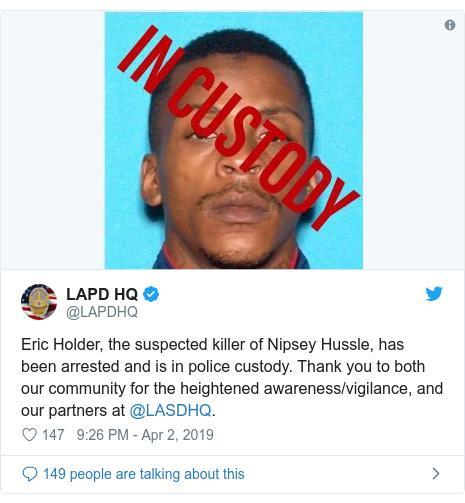 Bắt giữ nghi phạm bắn chết rapper Nipsey Hussle khiến làng nhạc Mỹ chấn động-2