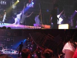 Khoảnh khắc sao Kpop gặp tai nạn, suýt bỏ mạng trên sân khấu