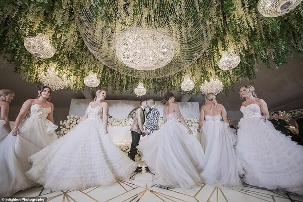 Choáng với siêu đám cưới 23 tỷ toàn kim cương và pha lê của cặp đồng tính nam-1