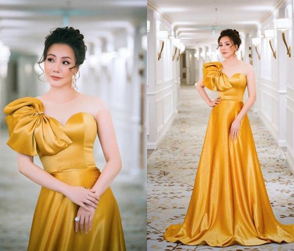 'Đụng hàng' váy áo, Á hậu Hoàng Dung vẫn đẹp nổi bật-3