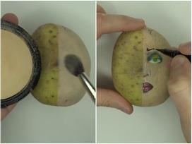 Một khi giỏi make up thì kể cả củ khoai tây cũng thành tác phẩm nghệ thuật