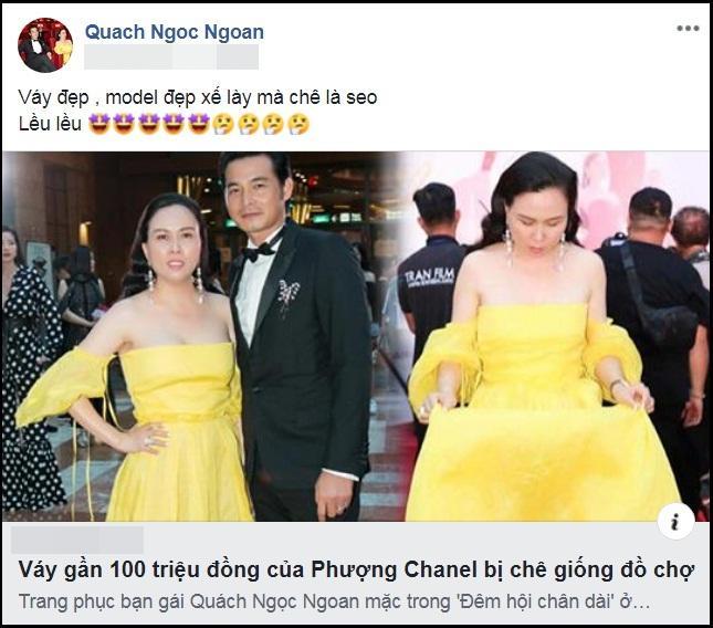 Phượng Chanel mặc váy 100 triệu mà như hàng chợ, Quách Ngọc Ngoan bênh: Váy đẹp, người đẹp thế mà chê-5